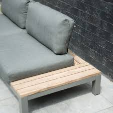 canapé de jardin fidji canapé de jardin lounge table en teck avec 4 coussins