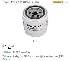Dodge Ram Cummins Oil Capacity - what oil filter do you use srt hellcat forum