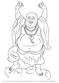 learn how to draw a laughing buddha buddhism step by step