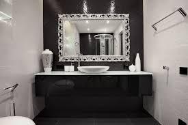 fanciful bathroom mirrors chrome beveled design ideas frame