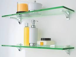 Glass Shelving For Bathrooms Sweet Looking Glass Bathroom Shelves Stylish Ideas Cool Bathrooms