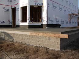 front porch concrete