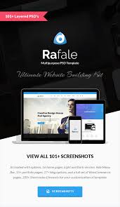 rafale multipurpose psd template by webstrot themeforest