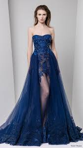 evening wear dresses for weddings tony ward fall 2016 ready to wear dresses blue colors illusions