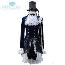 black butler ciel uniform coat shorts shirt hat anime halloween