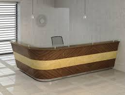 Circular Reception Desk by Bespoke Veneer Reception Desk