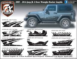 jeep wrangler graphics wrangler stripes jk graphics streetgrafx 2007 2017 jeep jk wrangler 2 door rocker complete graphic kit