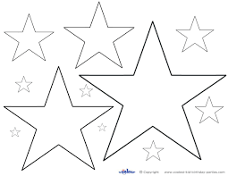 coloring page star pages stars shape wars to print for free trek
