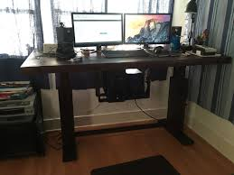 Stand Up Desk Conversion Kit by Electric Height Adjustable Desk 6 Steps With Pictures