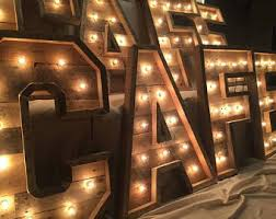 lighted letters etsy