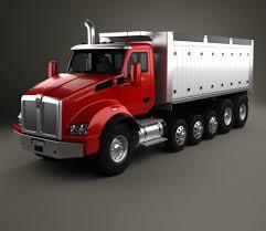 dump truck kenworth t880 dump truck 6 axle 2013 3d model hum3d