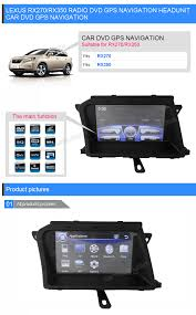 lexus rx270 thailand in dash dvd gps head unit for lexus rx270 rx350 with 8