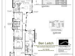 Narrow Lot Homes Download Ranch 1 Story Narrow Lot House Plans House Scheme