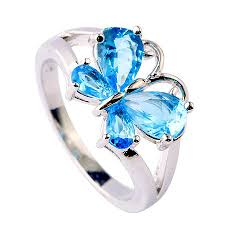 blue butterfly rings images Blue topaz product categories nadine jardin jpg