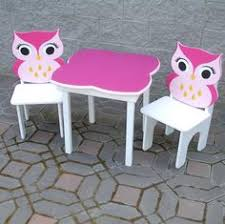 little girls table and chair set owl little girls table and owl chair set charlotte