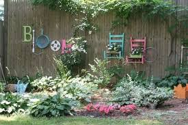 Backyard Fence Decorating Ideas Diy Garden Fence Wall Ideas