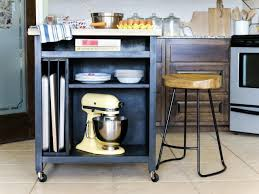 Kitchen Movable Island by How To Build A Diy Kitchen Island On Wheels Hgtv