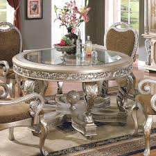 Silver Dining Chairs Furniture U0026 Accessories Round Dining Table Luxury Classic Carved