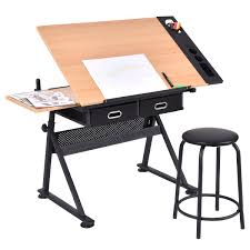 Drafting Table Images Costway Rakuten Costway Adjustable Drafting Table Craft