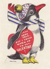 vintage valentines vintage penguin remake gingercake