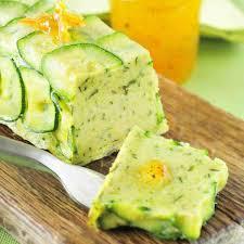 recette cuisine courgette recette flan de courgettes à la vinaigrette d orange amère