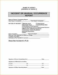 sample incident report for security officer tm sheet