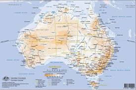 map of aus aussie maps australia major tourist attractions maps