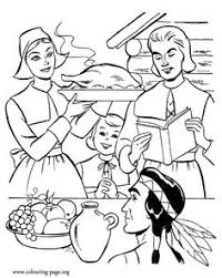 the pilgrims thanksgiving story coloring page source of many us