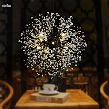 Led Dining Room Lights by Modern Firework Led Pendant Light Clear Crystal Hanging Pendant