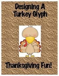 designing a turkey glyph thanksgiving by tonya davis tpt