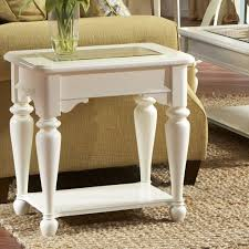 furniture fascinating white living room end table design with