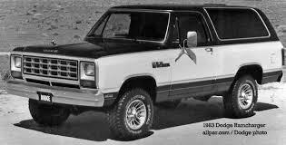 Ram Dodge Pickups 1981 93 Dodge Ramcharger Trucks 1974 1993
