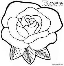 coloring coloring pages of a rose
