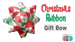 christmas ribbon how to make a christmas ribbon gift bow theribbonretreat