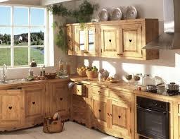 cuisine bois massif beau meuble de cuisine en bois massif décoration française