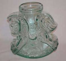 details about decorative vintage carousel rocking horse glass jar
