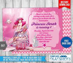 little mermaid birthday invitation 1 by templatemansion on deviantart