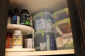 Organize Medicine Cabinet Pretty In Place Medicine Storage
