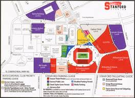 Rutgers Football Parking Map Stanford Football Stadium Tailgate Parking Map Pictures To Pin On