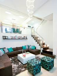 teal living room ideas for painting royal blue and chocolate brown