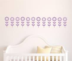 name stickers for girls room baby girl nursery wall decal 036 flower border vinyl decal wall stickers baby girls room decor