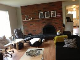 imposing red brick fireplace should i paint it