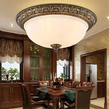Brass Ceiling Lights Aliexpress Com Buy Floureon Ceiling Lamp Retro European Style
