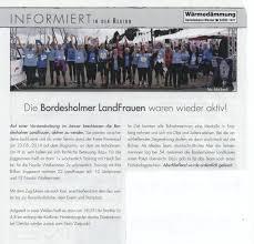 K Hen K N Zeitungsberichte 2014 über Die Landfrauen Bordesholm