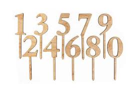 wood cake toppers wood number stakes cake toppers sunday bake the most delicious