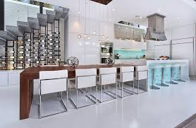kitchen island with wine storage contemporary kitchen with corian counters by lang lequang zillow