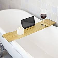 sobuy frg104 n bamboo bathtub rack bath tub shelf tray with