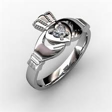 claddagh engagement ring ring white asu2 10