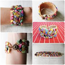 handmade bracelet string images Colorful shells bracelet handmade cuff crochet wax string jewelry jpg