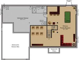 Finished Walkout Basement Crafty House Plans With Finished Basement Floor Basements Ideas